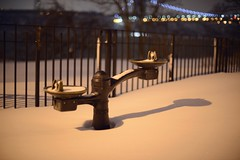 Water Fountain in Snow