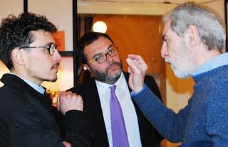 Da sinistra, Giuseppe Dilorenzo, l'assessore Altieri e il maestro Pippo Moresca