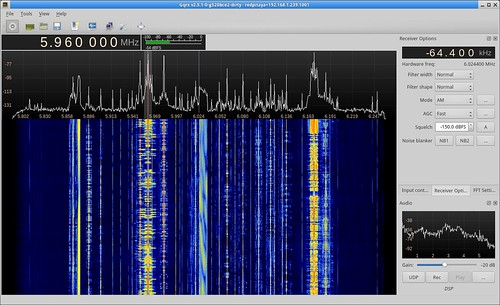 Gqrx running with the Red Pitaya
