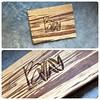 Custom tiger bamboo portfolio book with engraving treatment