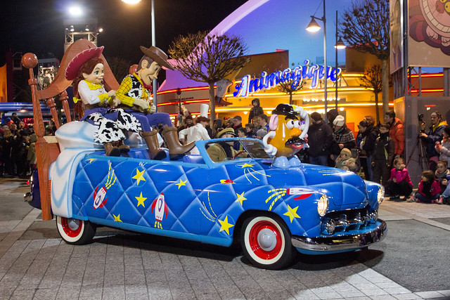 Disneyland Paris Stars In Cars Parade Toy Story