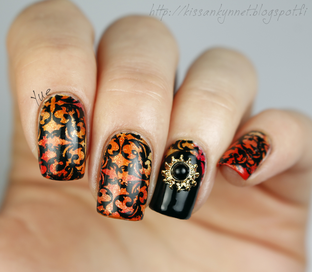 orange_black_3d_nail_art_3