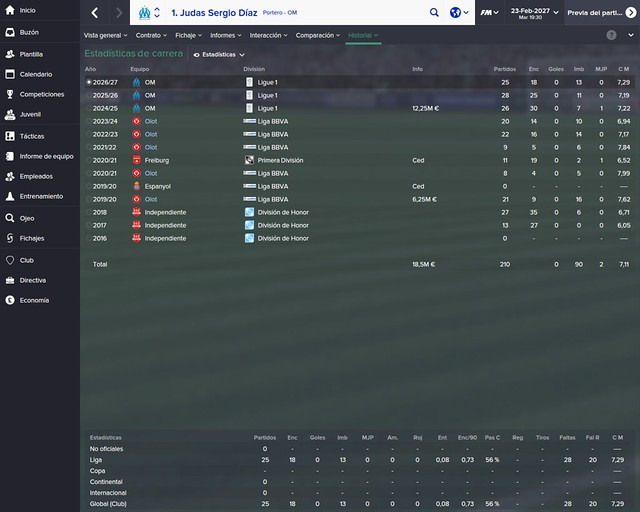 Football Manager: Sergio Díaz - UE Olot