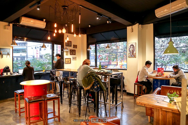 【新北市新莊咖啡館】工寓咖啡,輔大附近、工業風咖啡館、平價、不限時間、免費無線網路、有插座。