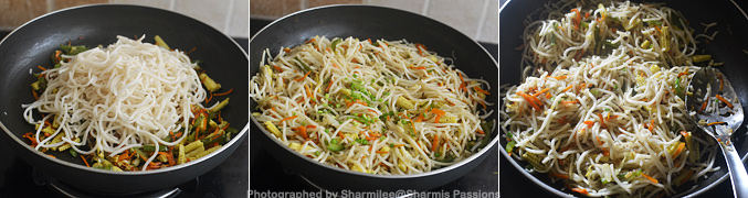 Baby Corn Vegetable Hakka Noodles Recipe - Step4