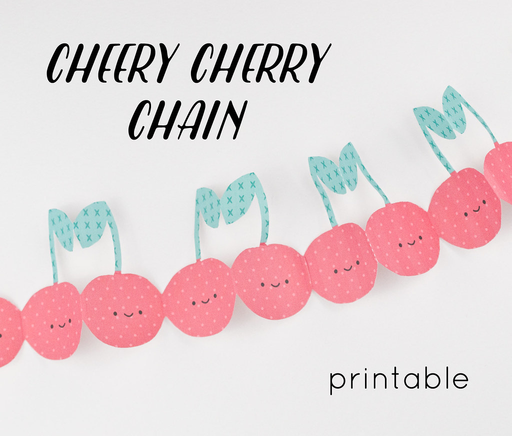 Cheery Cherry Chain Printable