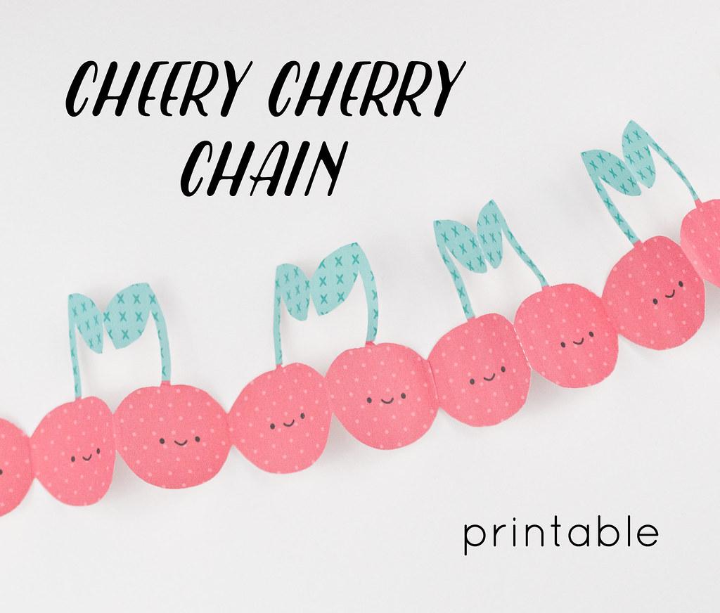 Cheery Cherry Chain Printable