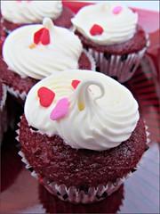 Red velvet mini-cupcakes