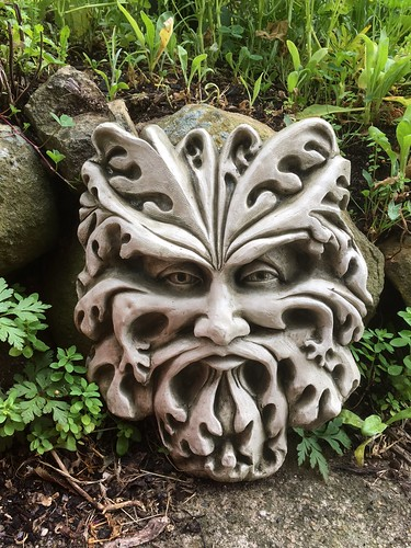 Derby Australia Picture : The Green Man,                                  an addition to the garden.