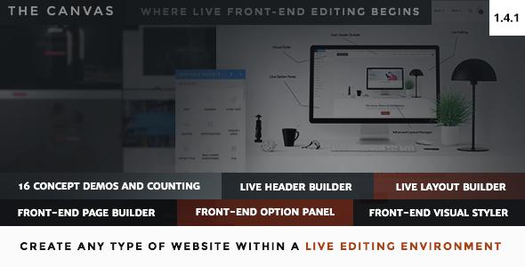 The Canvas v1.4.1 – Multi-Purpose Live Editing Theme