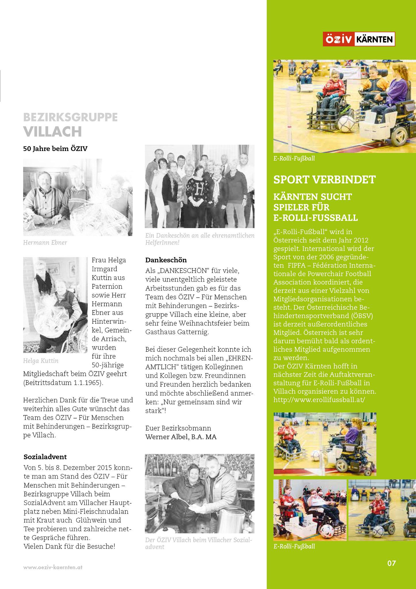 ÖZIV-Kärnten: Sport verbindet