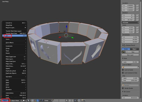 Blender - Object Join