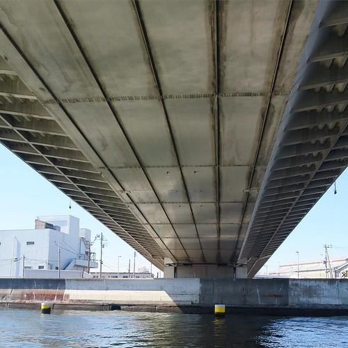 橋をくぐーる。写真とーる。
