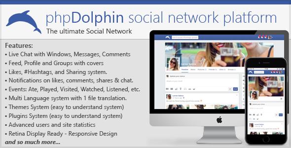 phpDolphin v2.1.7 – Social Network Platform