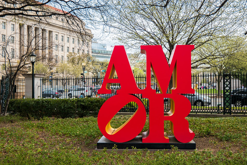 Robert Indiana Amor Sculpture at the National Gallery of Art