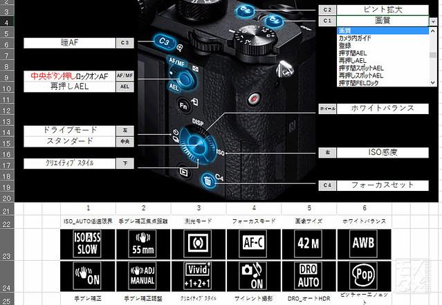 α7IIシリーズカスタムボタン一覧エクセル-フル版_1