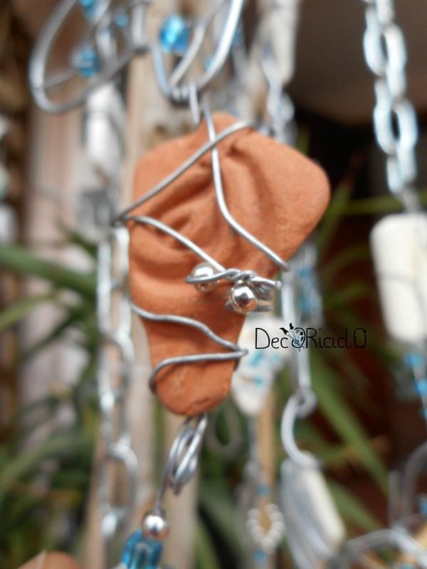 mobìle farfalle, vetro e ceramica 6