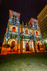 The San Fernando Cathedral at night