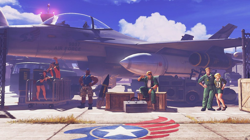 Guile in Street Fighter V: Guile's Stage