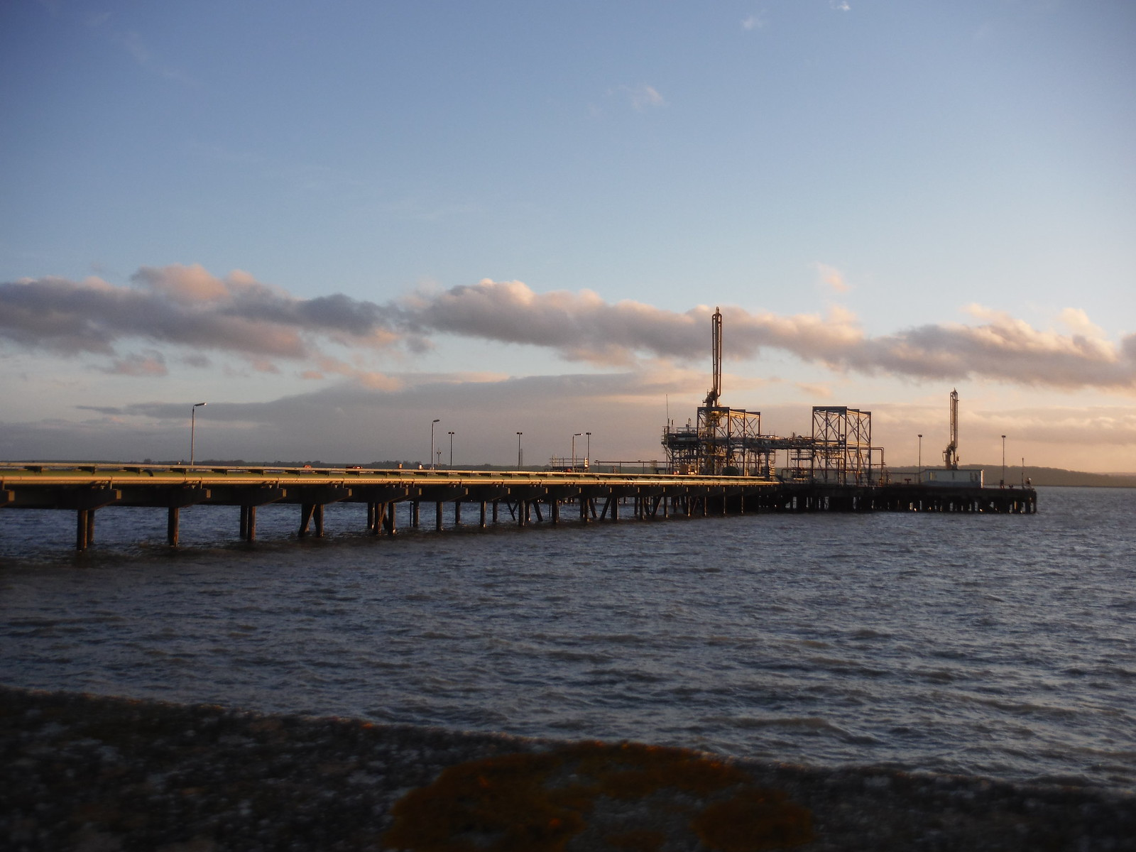 Jetty of Calor Gas's LNG Terminal, Canvey Island SWC Walk 258 Benfleet Circular (via Canvey Island)