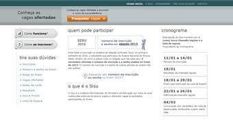 Portal do Sisu está no ar; candidatos já podem consultar vagas disponíveis