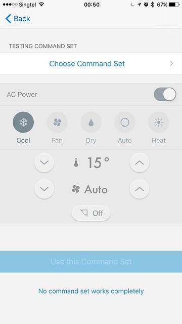tado iOS App - AC Setup - Command Set