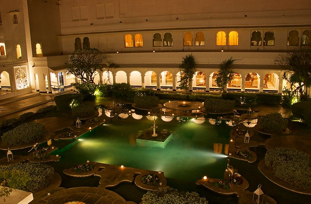 Octopussy's lair at Taj Lake Palace