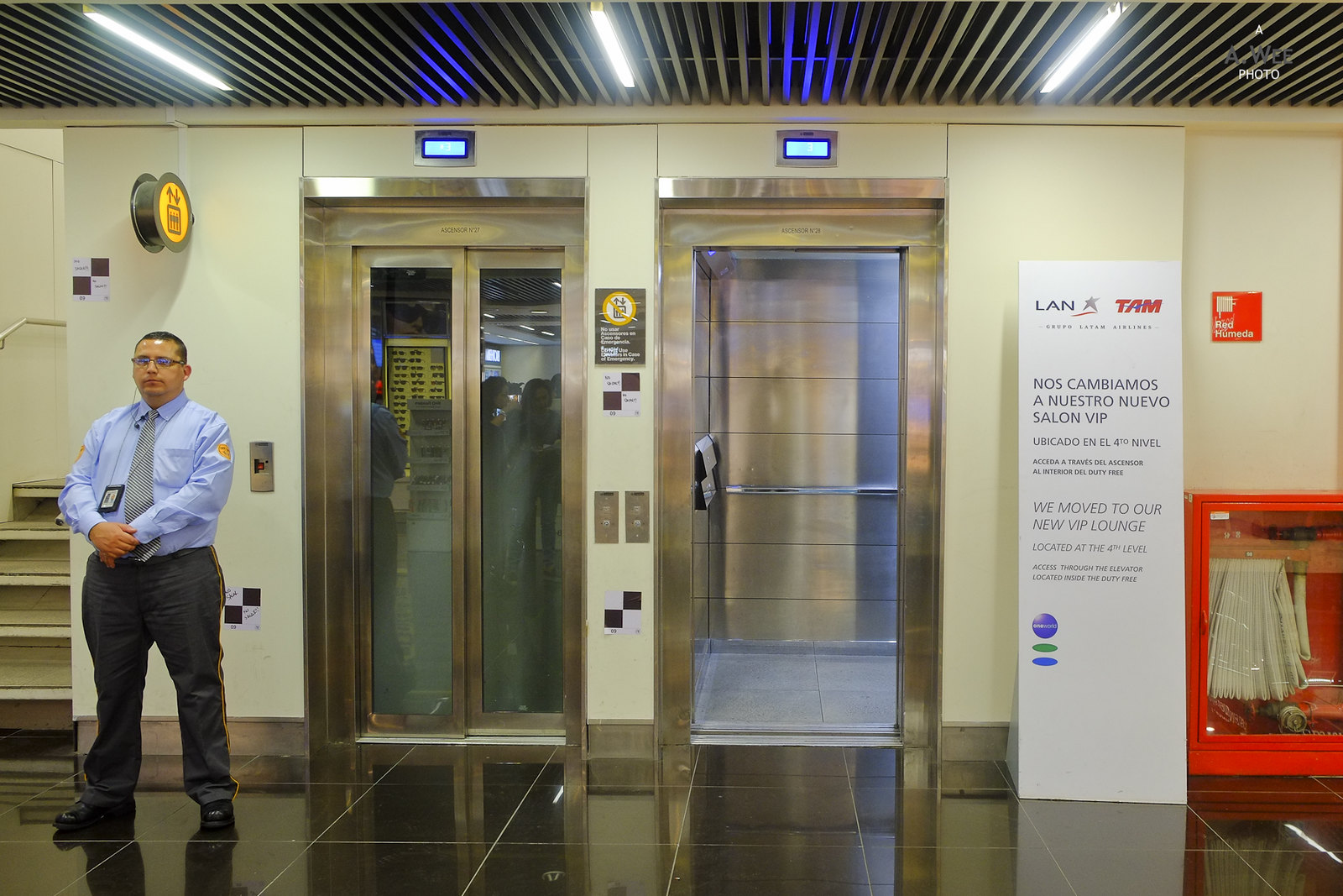 Lifts to LAN Lounge