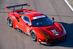 Risi Competizione Ferrari 488 GTE at Fiorano circuit in Maranello