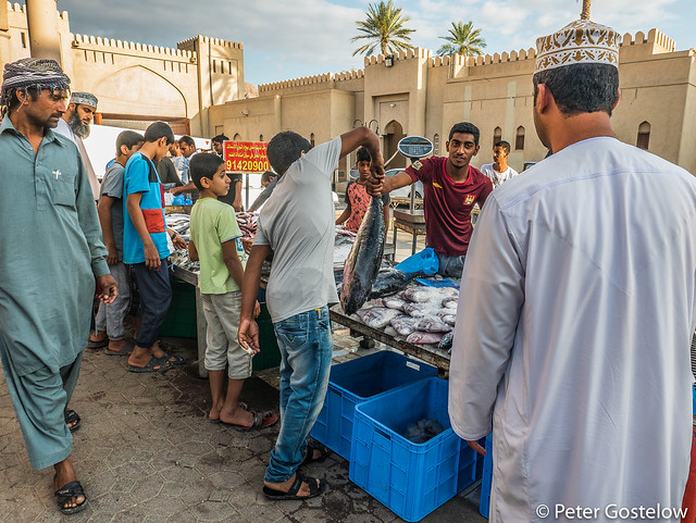 Nizwa souk fish market