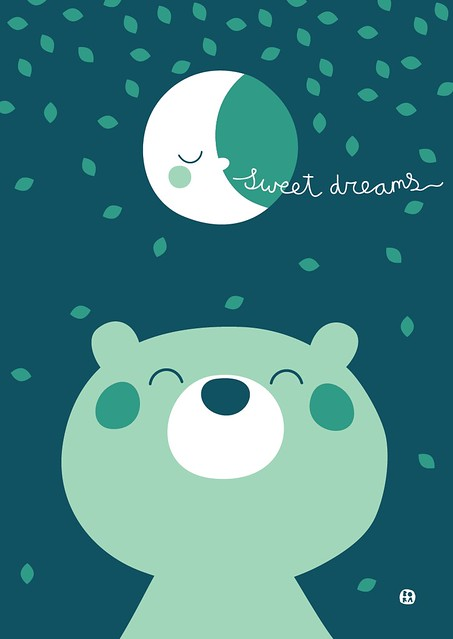 Sweet dreams poster A3 by BORA