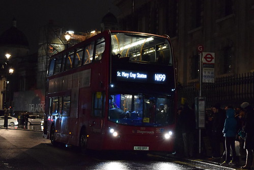 Stagecoach 10131 on Route N199, Charing Cross Station