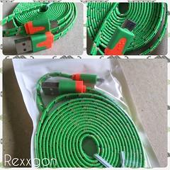 充電用ケーブル グリーン