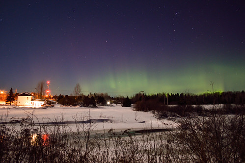 Aurora near Miramichi NB Canada Early morning hours of Jan 21 2016