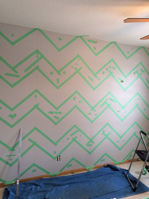 Taping the wall