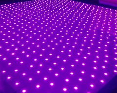 Led starlit dance floor for weddings and parties