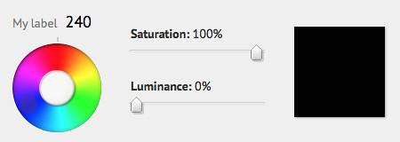 Blue at 0% luminosity