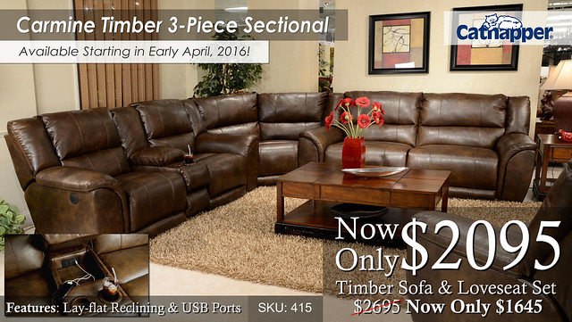 Carmine Timber Sectional