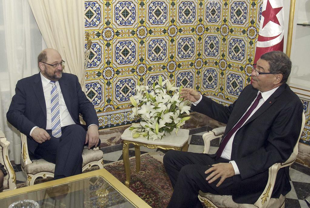 President Schulz meets PM Essid