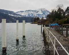 Seehotel Kastanienbaum Landing Dock on Lake Lucerne, Central Switzerland