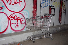 Lone Shopping Cart - 6th St. Tunnel