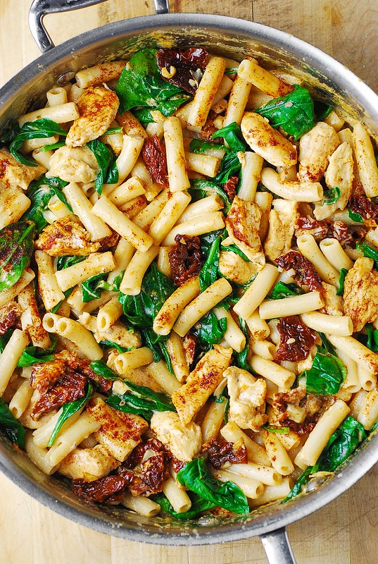 chicken pasta recipes, chicken pasta with creamy Asiago cheese sauce