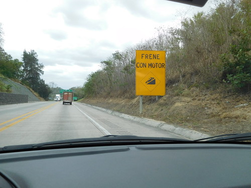road travel sign mexico driving travelogue