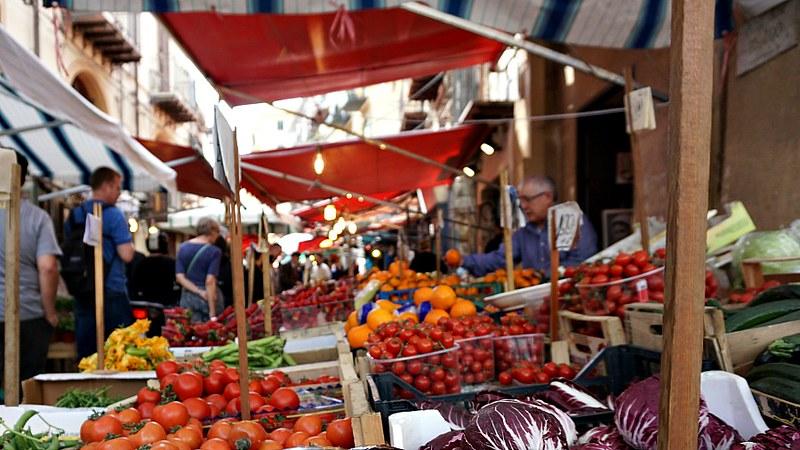 Lively Palermo Street Market
