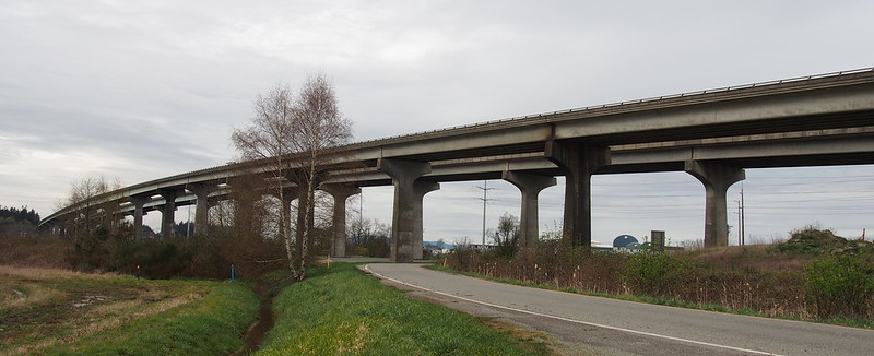 SR-20 Swinomish Channel Bridge: USBR 10 is the sidewalk for the bridge.
