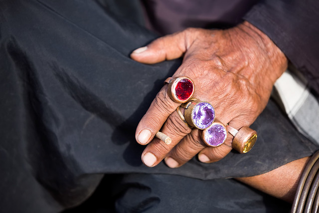 Hands of a man in Bhuj, Gujarat, India.
