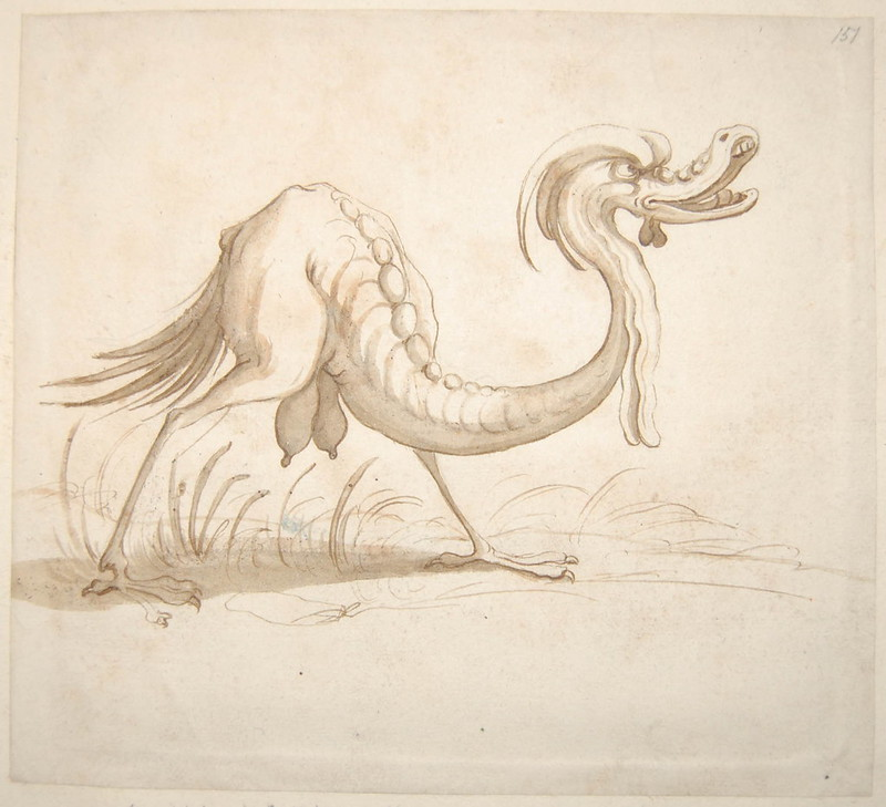 Arent van Bolten - Monster 151, from collection of 425 drawings, 1588-1633