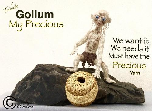 #Gollum #Smeagol #JRR #Tolkien #TheHobbit #Andy #Serkis #KnittedDoll #Doll #Dolls #Knitted #Denise #Film