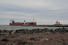 MV Whitefish Bay Enters Duluth Ship Canal - April 2016