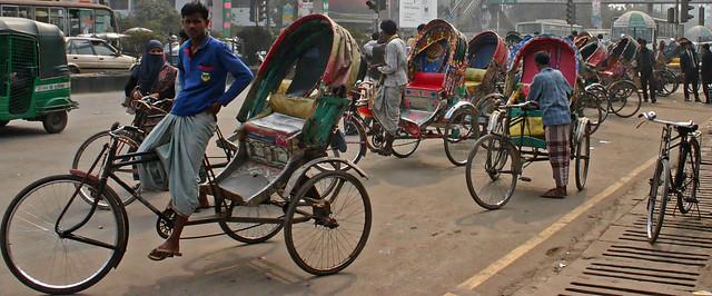Passenger Rickshaws waiting for, Canon EOS DIGITAL REBEL, Canon 18.0-55.0 mm
